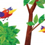 Origo Education -  'I think I'll go Flying' illustrated storybook. Paper and paint collage