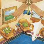 Origo Education -  'Mice, mice, everywhere' illustrated storybook. Watercolour