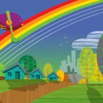 Origo Education -  'Paint a Rainbow' illustrated storybook.  Adobe Illustrator
